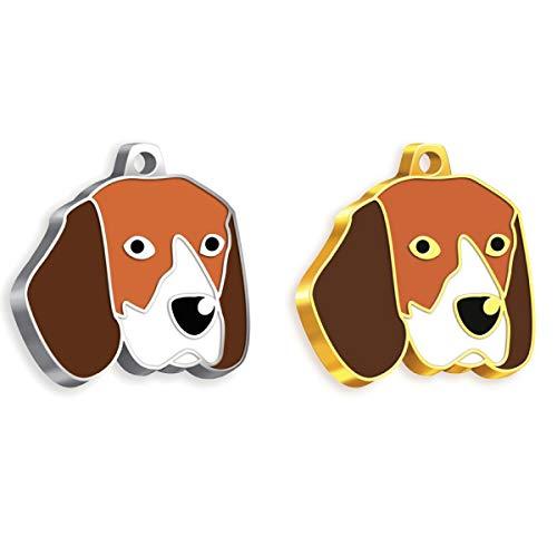 Pet Tag Art Beagle Etiqueta de Mascota Personalizada grabada, Etiqueta de Perro, Etiqueta de identificación de Mascota