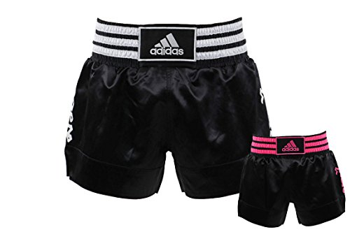 Adidas Pantalones cortos de boxeo tailandés - blanco y