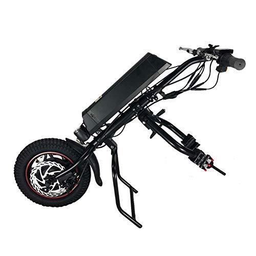 WINKE Elektro-Rollstuhl Rollstuhl-Handcycle Anlage, Rehabilitationstherapie Elektro-Rollstuhl Umrüstsatz mit Frontleuchte,8Ah
