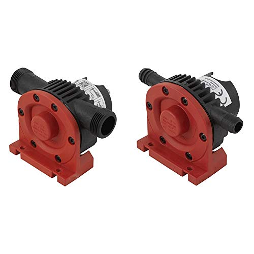 Wolfcraft Bohrmaschinen Pumpe mit Kunststoffgehäuse 2207000; Selbstansaugende Wasserpumpe mit bis zu leistungsstarken 3000 l/h & 2202000 Bohrmaschinen Pumpe/Selbstansaugende Wasserpumpe, rot
