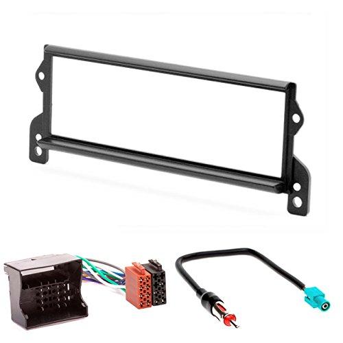 CARAV 11-240-4-7 Kit d'installation d'autoradio 1-DIN pour Mini Hatch (R50/R53) 2001-2006 ; Cabriolet (R52) 2004-2007 + câble adaptateur ISO et antenne.