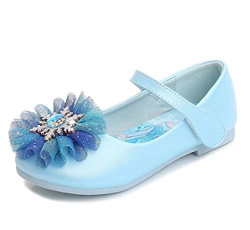 Kosplay Disfraz Princesa Zapatos Elsa Niñas Zapatos de Tacón Velcro Zapatos de...
