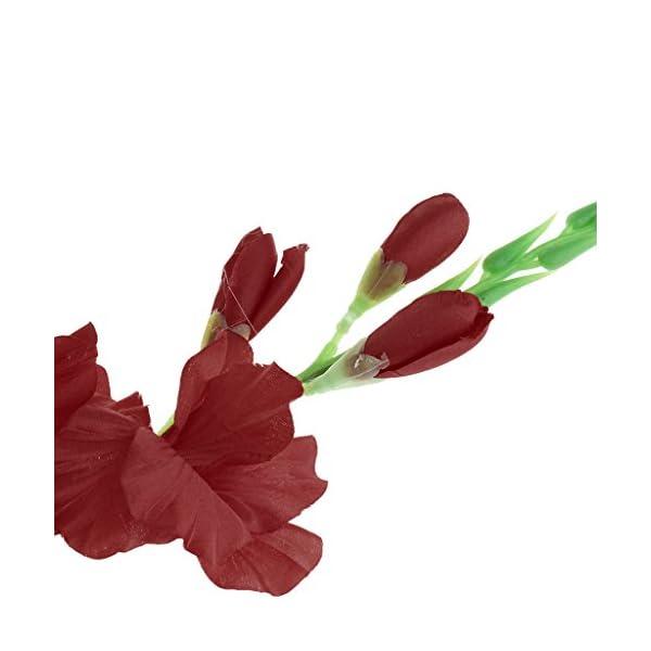PETSOLA 4X 80cm Tallo De Flor De Gladiola Artificial para Decoración De Jardín Multicolor