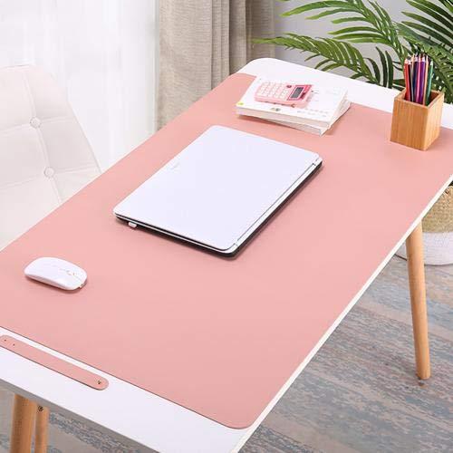 Bandeja de escritorio antideslizante impermeable para ordenador portátil, alfombrilla de ratón para cocina, hogar, mesa, colchón, mantel impermeable, color rosa