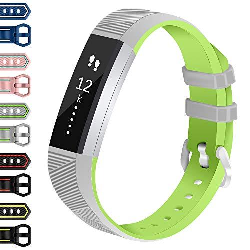 Vozehui Correas de repuesto compatibles con Fitbit Alta/Alta HR, pulsera de fitness ajustable con silicona suave para mujeres y hombres