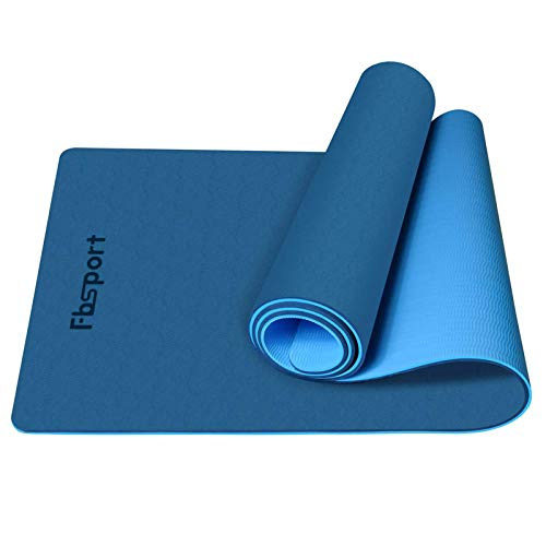 FBSPORT Yoga Mat- Eco Friendly Non Slip 1/4 inch Fitness Exercise Mat with Carrying Strap & Storage Bag, Workout Mat for Yoga, Pilates and Floor Exercises (72