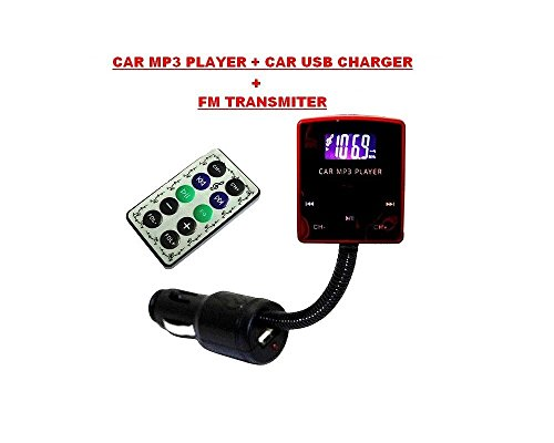 GiXa Technology biegsam Qualitäts STEREO FM Transmitter Funk Auto MP3 Musik Player USB Auto Ladegerät Ladekabel Wireless Car Audio Micro TF/SD Karte/USB Stick geeignet für iPhone/iPod/MP3/MP4 Player CD DVD Spielkonsolen Walkman Auto Radio 12–24 V Wireless Musik Übertragung auf Auto Radio