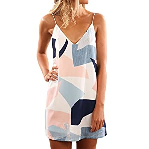 Women's  Summer Beach Boho Straps Short Dress