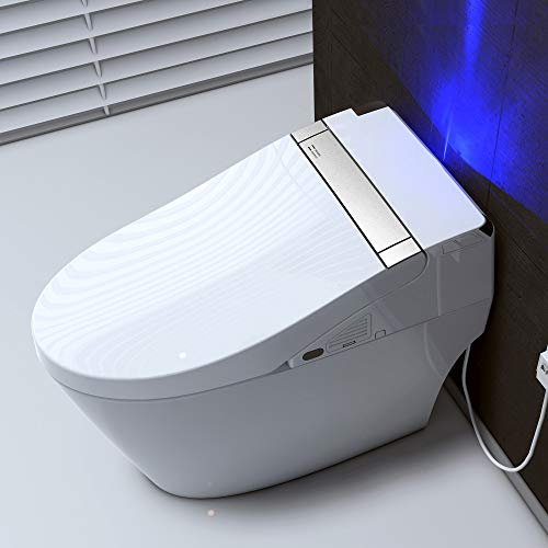 WOODBRIDGE B0960S WHITE Intelligent Smart Toilet, Massage Washing, Open & Close, Auto Flush,Heated...