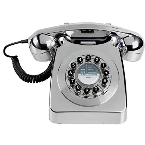 Rotary Design Retro vaste telefoon voor huis, met luidsprekers en keuzeherhalingsfunctie voor huis en decor, retro telefoon, vaste aansluiting, bedrade telefoon voor huis en H