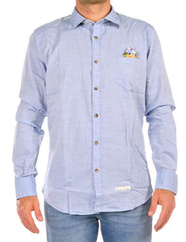 ALESSANDRO LAMURA Camisa de hombre azul celeste LUCKY72