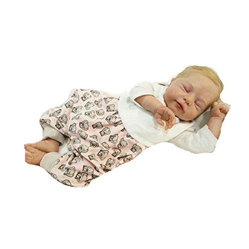 Atelier MiaMia - Mitwachs Strampler Baby Kind von 50, 56, 62, 68, 74, 80, Designer Strampler Limitiert !! Elefant (56)