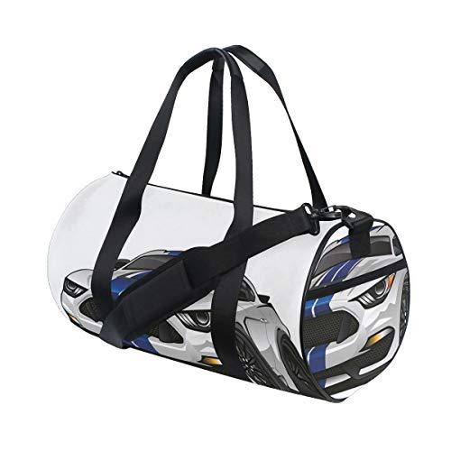 HARXISE Bolsa de Viaje,Coche de Rally Americano Moderno de la Raza del músculo en fórmula Elegante de la impulsión de Lujo,Bolsa de Deporte con Compartimento para Sports Gym Bag