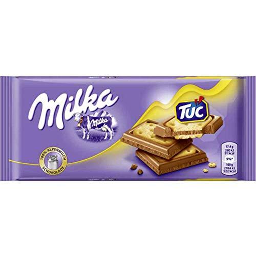 5x MILKA Tafel TUC Schokolade á 87g=435g MHD:2/20