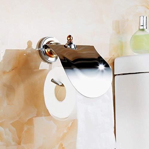 Mano de obra única, esencial para el hogar Baño simple y elegante Toallito de papel de cobre puro Papel higiénico Papel higiénico Caja de papel higiénico Caja de papel Rollo de cocina Dispensadores Ti
