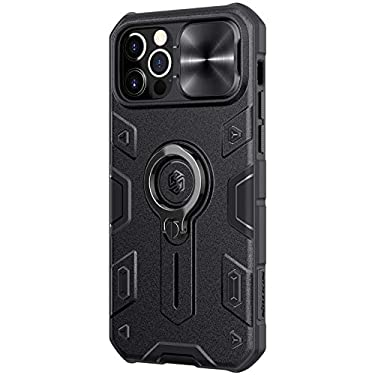 """Nillkin Case for Apple iPhone 12 / Apple iPhone 12 Pro (6.1"""" Inch) CamShield Armor Military Grade Camera Close & Open Double Layered Protection TPU + PC Finish with Kickstand Black"""