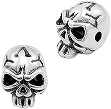 Sadingo metalen parels doodshoofden, schedel, skull, zilver