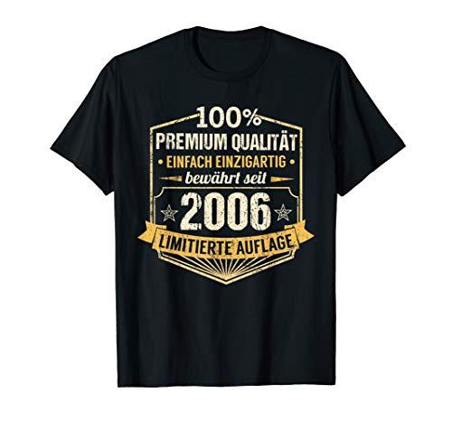 14. Geburtstag Junge Mädchen 14 Jahre 2006 Party Geschenk T-Shirt