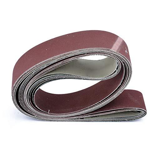 FANLLOOD Schleifband 6 Stück 2 Zoll x 72 Zoll Metallschleifbänder Körnung Bandschleifer Schleifen Polieren Schleifpapier 180/240/320/400/600/800 Körnung