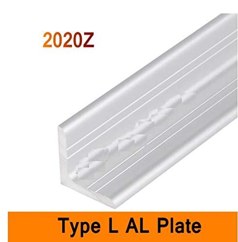 NO LOGO FMN-TAPE, 2/3/5pcs 2020Z Type L Aluminium Profile Long Angle Plate 3mm Wall DIY Brackets AL 3D DIY Printer Frame Metal Connector Sheet Workbench (Size : 200mm 5pc)