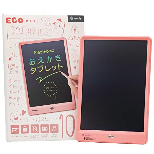 Smaly お絵かきタブレット 10インチ ピンク カラフル文字 電子メモパッド