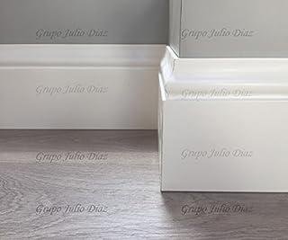 grupo julio diaz Rodapie Blanco Modelo balines de Dimensiones 13 cm de Alto x 1,6 cm de Grosor, se Vende por Tira y Cada una es de 244 de Largo, Puede Elegir tantas como desee