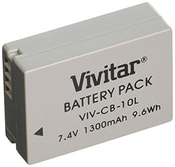Vivitar NB-10L Ultra High Capacity 1300mAh Li-ion Battery for Canon PowerShot SX50 HS Powershot SX40 HS PowerShot G1X Powershot G16 Powershot G15  Canon NB-10L Replacement
