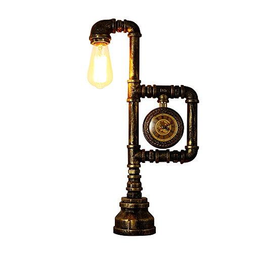 INJUICY - Lampada da tavolo industriale vintage con base in ferro da stiro, per comodino, camera da letto, soggiorno, sala da pranzo, bar, corridoio