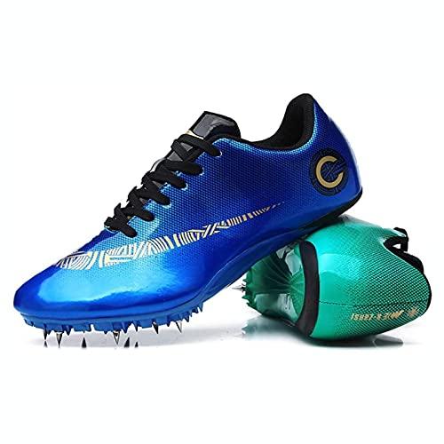 Zapatillas de Fútbol Hombre Profesionales Spike Atletismo Zapatos 8 Clavos Spikes Zapatos Aire Libre Atletismo Zapatos de Entrenamiento Zapatos de Deporte,004,39