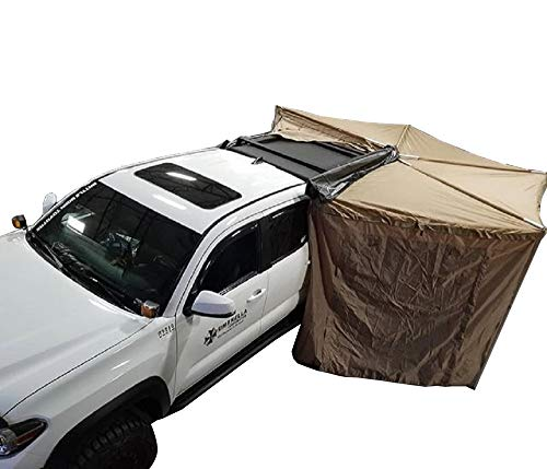 DANCHEL OUTDOOR Camper Roof Rack 270 Batwing Awning with Room for SUV...