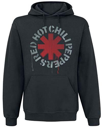 Red Hot Chili Peppers Stencil Sweat à capuche noir L