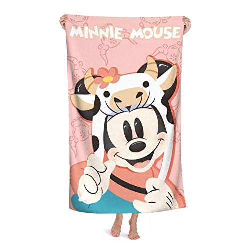 Toalla de baño de Mickey Minnie Mouse de dibujos animados Niños Playa Natación Casa Hotel Suave Extra Grande Fibra Superfina Para Niñas Niños 32X52In