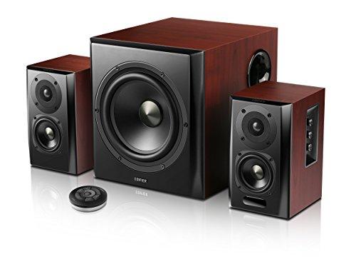Edifier S350DB Lautsprecher System, Home-Entertainment Regallautsprecher und Subwoofer 2.1, mit Bluetooth V4.0 aptX in Holz/schwarz