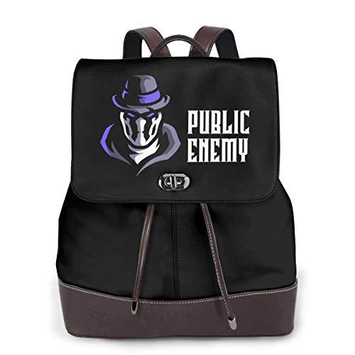 Bookbag multifunctionele laptoptas voor dames van leer voor openbare vijanden