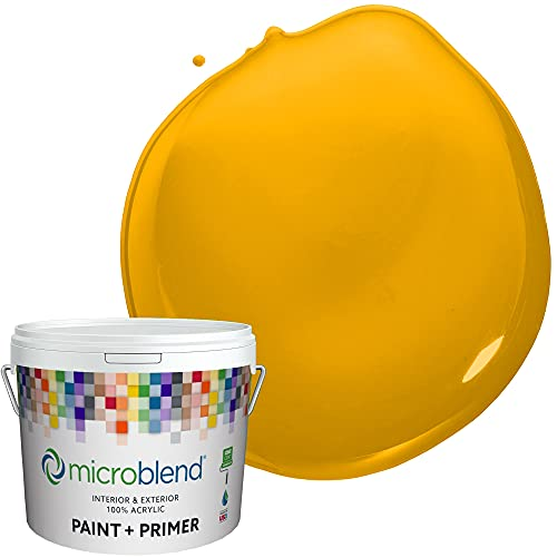 Microblend Exterior Paint and Primer - Yellow/Rain Slicker
