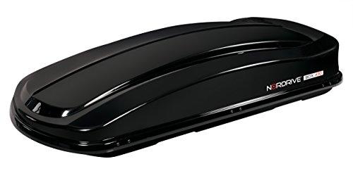 Cofre de Techo para Coche, 430 L, 190 x 78 x 37 cm Negro Metaliza