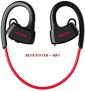 EMEBAY - Swimming pool Underwater Waterproof diving Swimming MP3 Player Bluetooth Sport Headset MP3 Headset / Wireless Headset Waterproof IPX7 Intra Auricular Bluetooth Headset Bluetooth 4.2 for Swimming / Course / Training Free Cordless (Black/red Bluetooth + MP3)