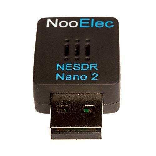 Nooelec NESDR Nano 2 - Winziges Schwarzes RTL-SDR-USB-Set (RTL2832U + R820T2) mit MCX-Antenne. Software Defined Radio, DVB-T und ADS-B Kompatibel, ESD-Sicher