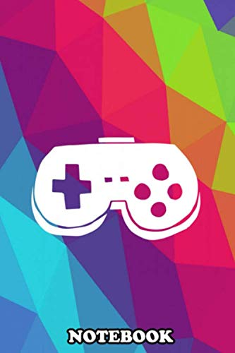 Notebook: Rainbow Game Controller With Rainbow Polygon For Gamers , Journal for Writing, College Ruled Size 6