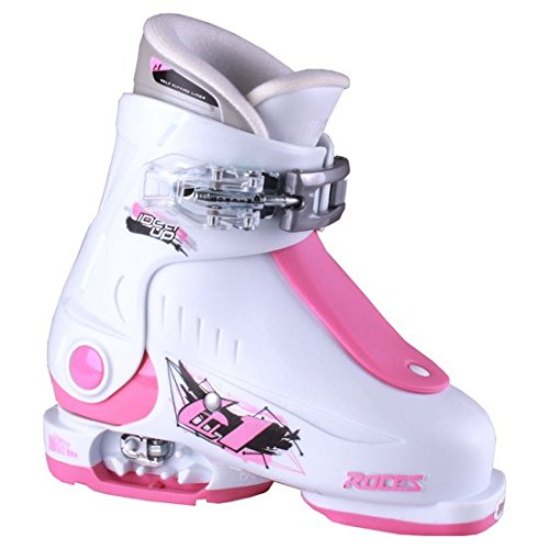 Roces Botas de esquí Idea, niños Unisex, Blanco/Rosa Oscur