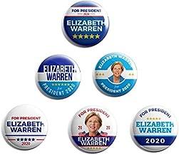 Elizabeth Warren for President 2020 - Set of 6 Campaign Buttons (Warren-All)