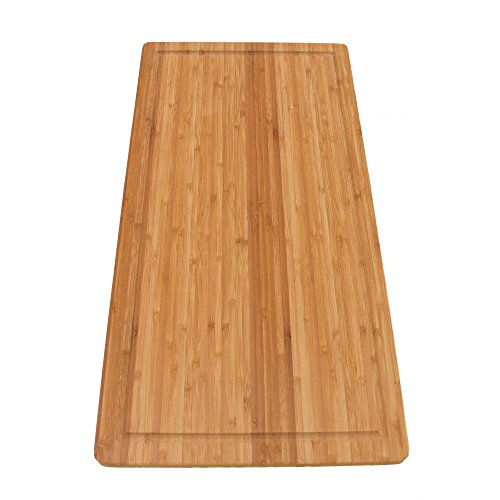 BambooMN Brand Bamboo Burner Cover/Cutting Board for Viking Cooktops, New Vertical Cut, Large, Extra Long (23'x11.78'x0.75')