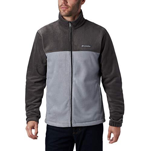 Columbia Men's Steens Mountain Full Zip 2.0 Soft Fleece Jacket, Shark/Grey Ash, Large