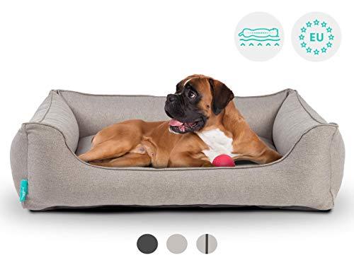 Hyggins Dreamer Plus Lettino per cani ortopedico, rivestimento rimovibile e lavabile, fondo impermeabile