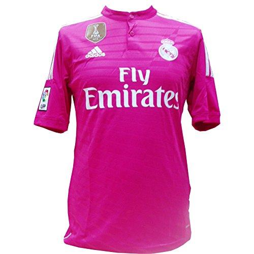 adidas WC Real A JSY - Camiseta Unisex, Color Rosa/Blanco, Talla L