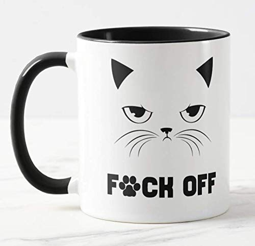 F*ck Fuck cat Swearing Mug - Funny Coffee Cat Mug, Christmas, Xmas,...