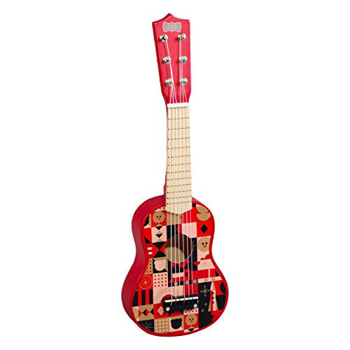 FAO Schwarz Natural Wood Red Acoustic Music Toy