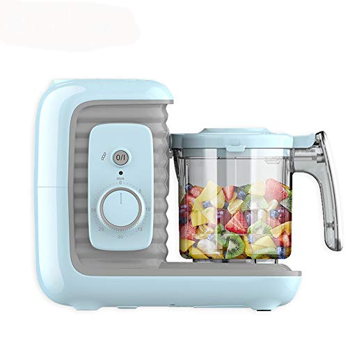 ZJXYYYzj Babynahrungsmaschine,Mixer Grinder Steamer Selbst Reinigt und Timer-Steuerung Auto-Shut-Off for Gesunde Hausgemachte for Kleinkinder (blau)