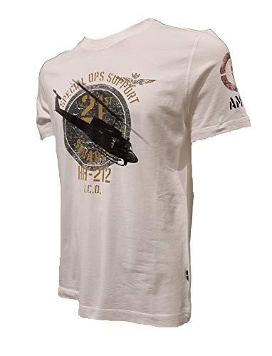 Aeronáutica Militar TS1730 - Camiseta para hombre, color blanco