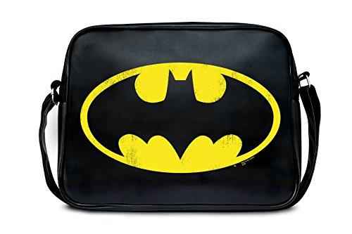 Logoshirt Bandolera Batman Logotipo - DC Comics - Batman Logo - La bolsa de mensajero del hombre - Superhéroe - negro - Diseño original con licencia